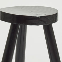 Load image into Gallery viewer, Black tripod milking stool