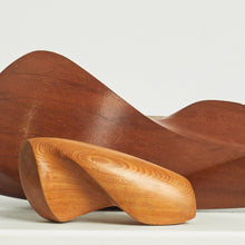 Load image into Gallery viewer, Pair of biomorphic wood sculptures