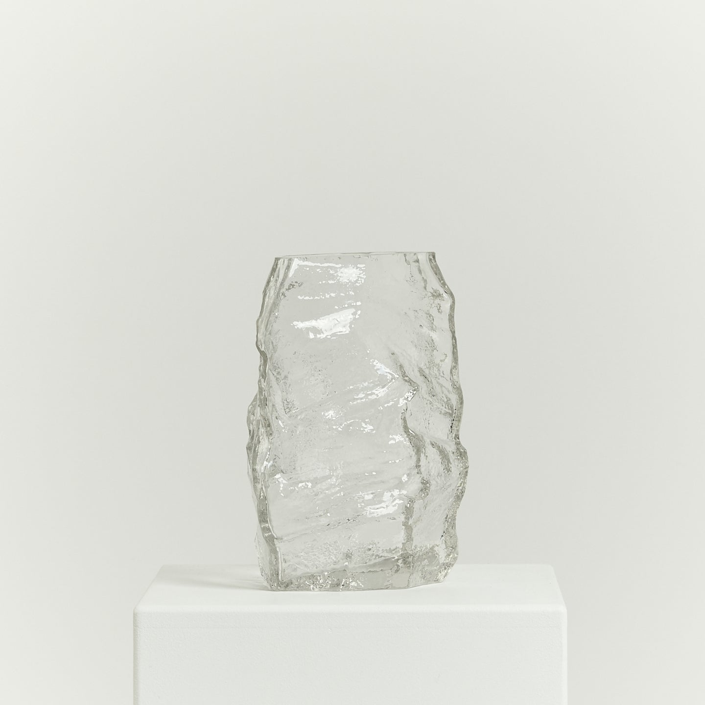 Asymmetric art glass vessel