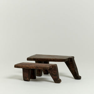 Lobi rectangular stools from Burkina Faso