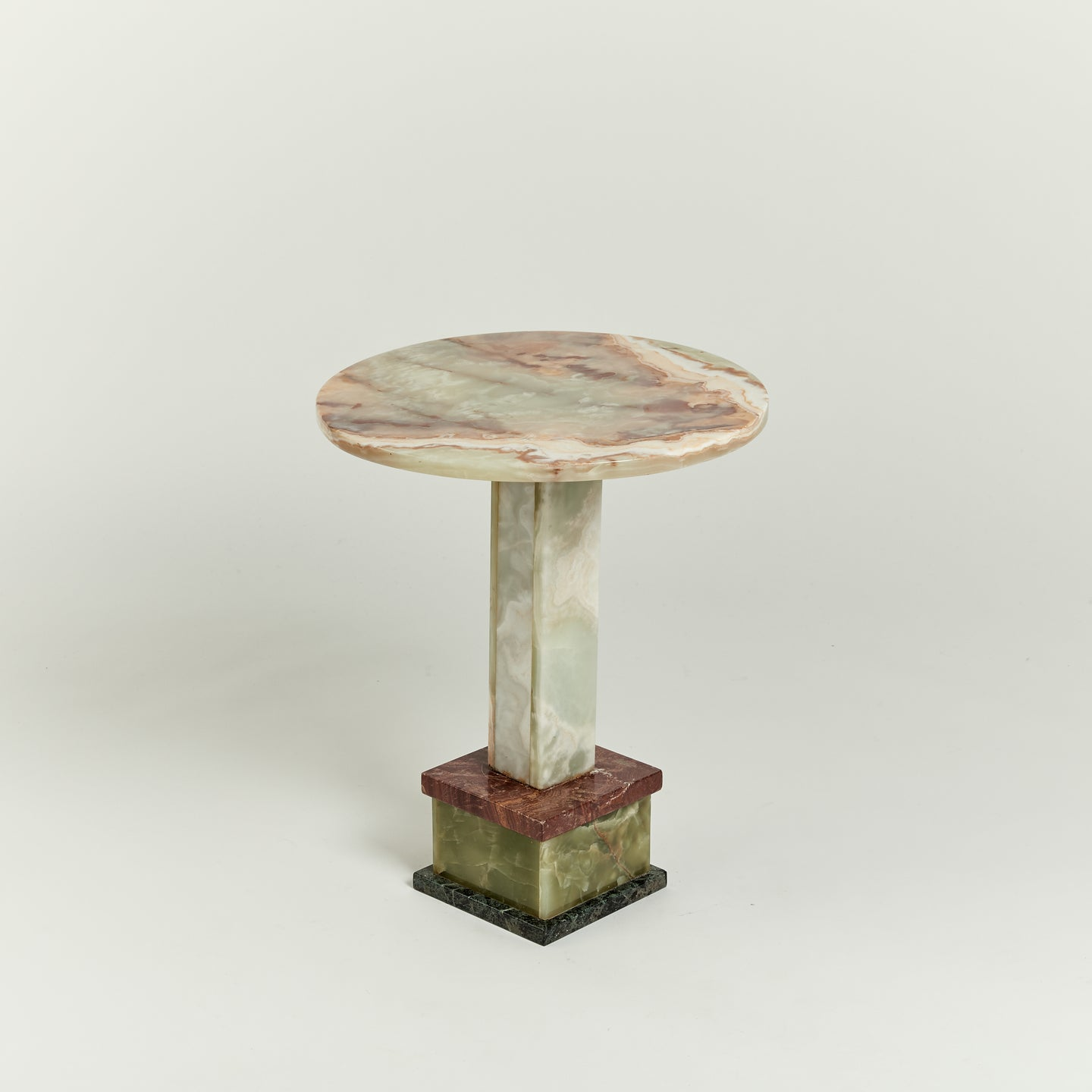Vintage multi-coloured marble table