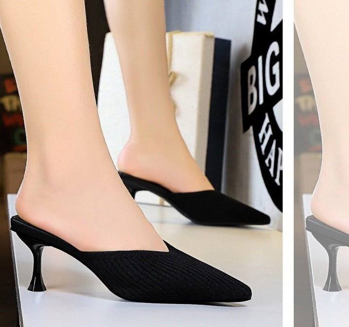 V-shaped Mouthpointed Toe Heels