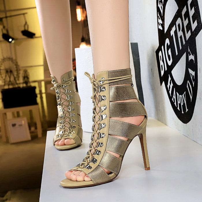 Cross Strap Nightclub High Heel