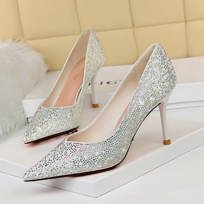 Rhinestone Party High Heels