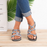 Multiple-color Tie Cross Women's Sandals