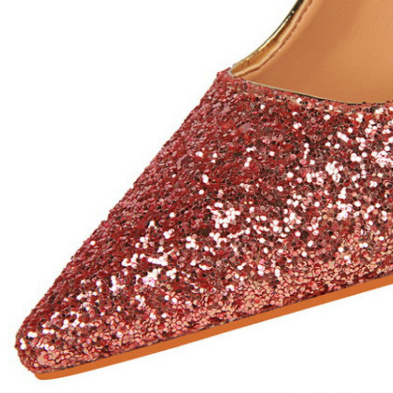 Gradient Sequin High Heels 9219-10