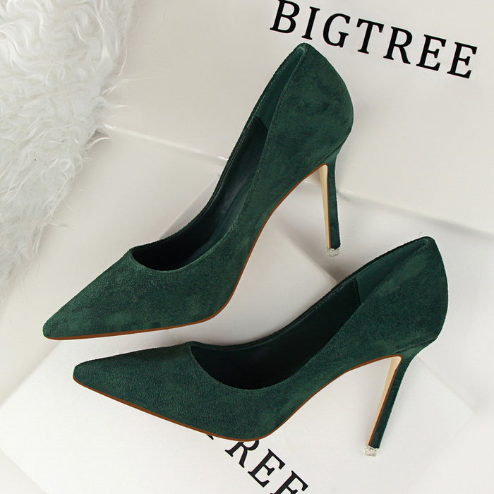 Suede Stiletto High Heels 516-1