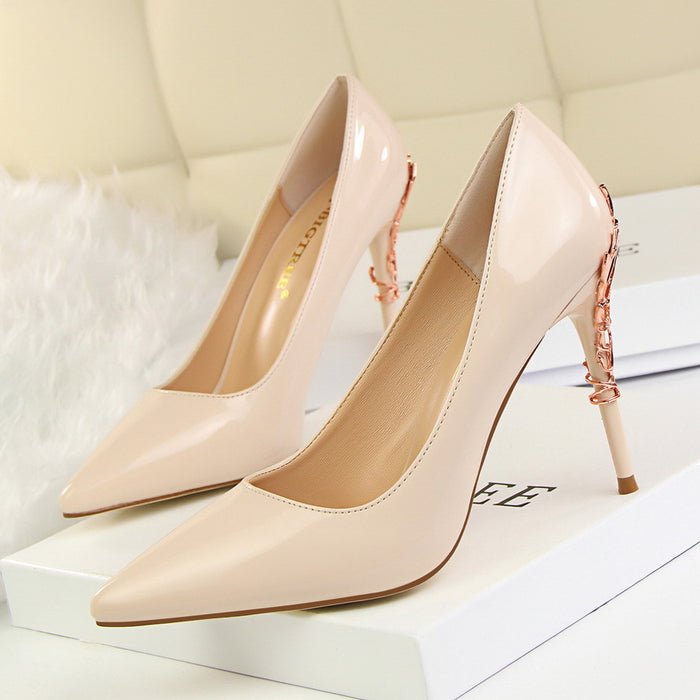 Shallow Mouth Pointed High Heels 9219-7