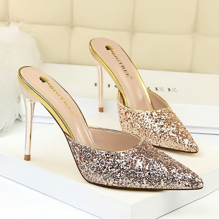 Metal Stiletto High Heels 283-12
