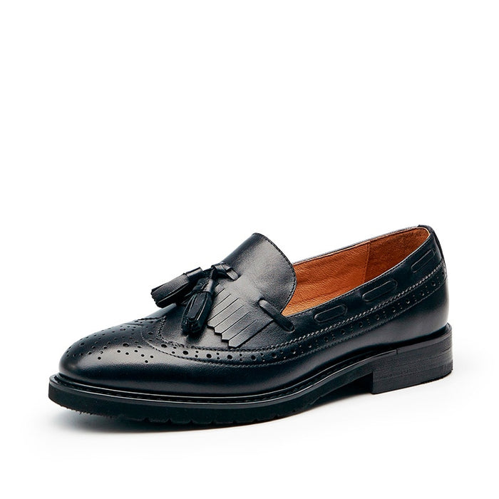 Slip-On Fringe Loafers