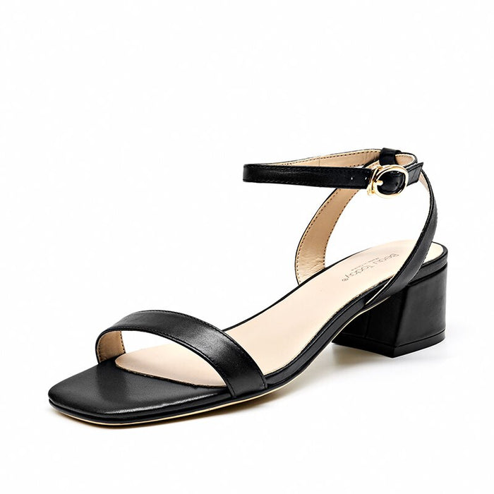 Leather Buckle Strap Sandal
