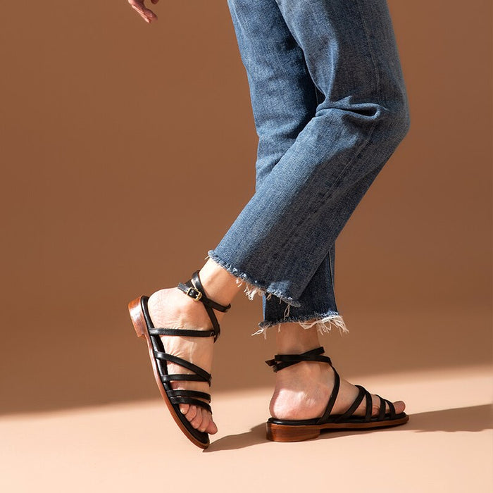 Cross-Tied Sandals