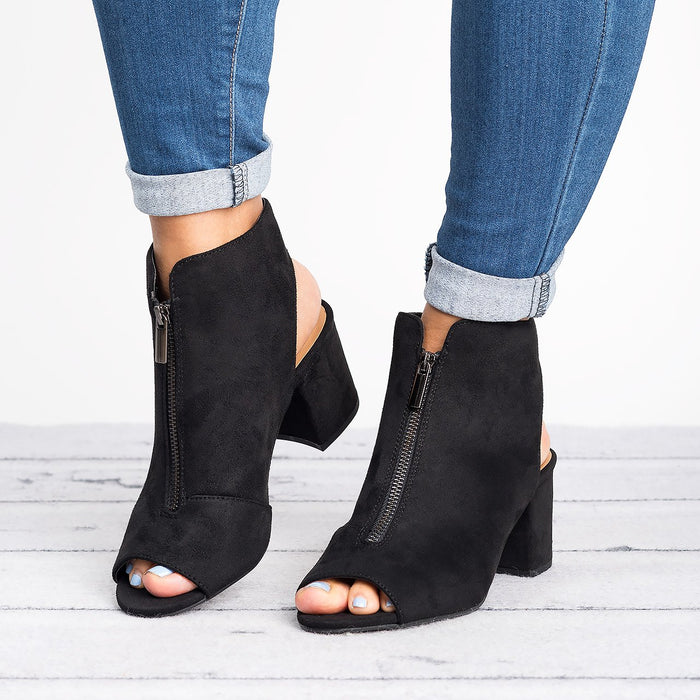 Edgy Zip Up Booties