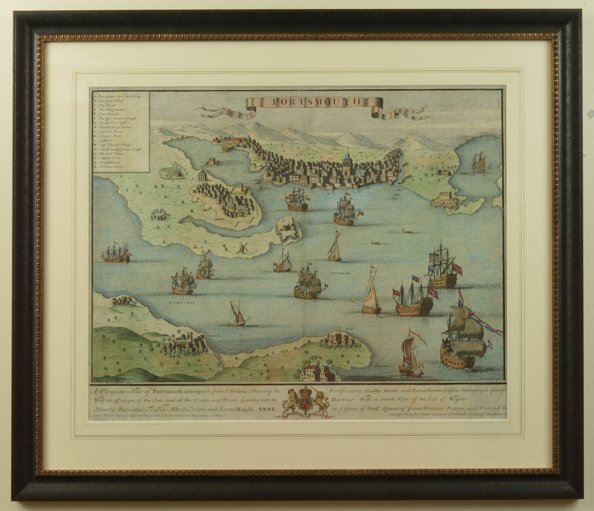 A map of Portsmouth and Gosport dating to 1708