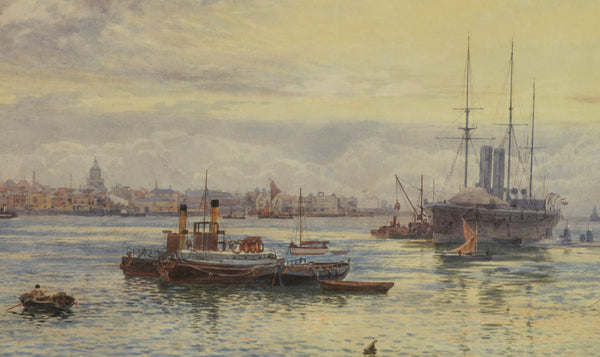 Martin Snape watercolour of Portsmouth Harbour