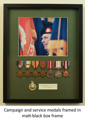Framing of WWII Campaign and Service Medals