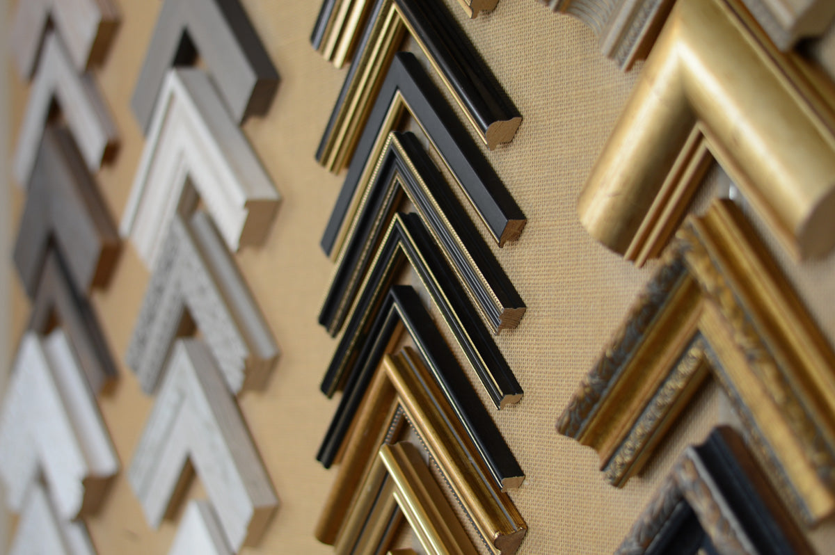 A selection of mouldings available at Richard Martin Gallery