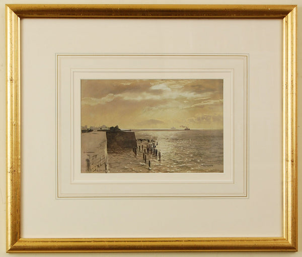 Watercolour of the Hot Walls, Old Portsmouth, by Martin Snape