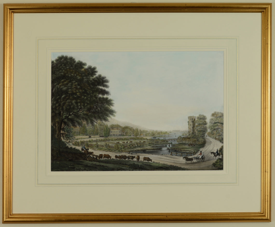 Georgian Alverstoke, looking towards Gosport, c.1810