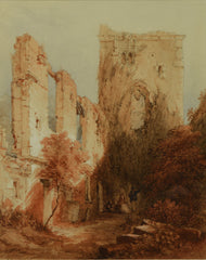 Watercolour of Portchester Castle by Edwin van Fuidge