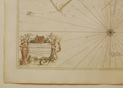 Antique Chart of Dundee, Aberdeen and Montrose by Greenvile Collins, 18th Century