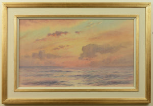 Fine watercolour by Alma Burlton Cull of an evening sea in the Indian Ocean