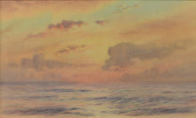 Load image into Gallery viewer, Fine watercolour by Alma Burlton Cull of an evening sea in the Indian Ocean