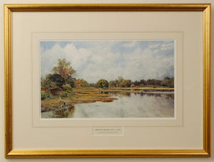 Print of Stoke Lake, Alverstoke by Martin Snape