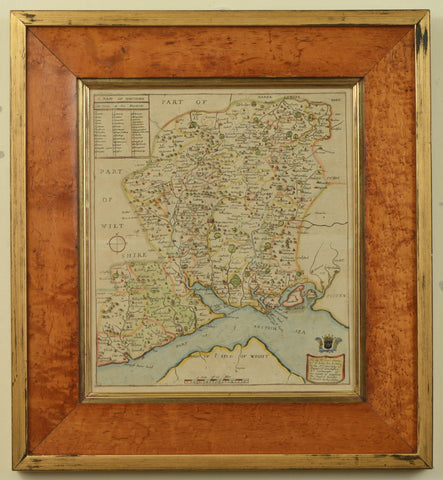 Antique Map of Hampshire by Richard Blome, c.1673
