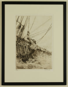 Make Fast - signed etching by Arthur Briscoe