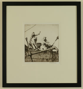 The Anchor - Signed etching by Arthur Briscoe