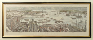 Bird's Eye View of Portsmouth Harbour by H.W. Brewer, c.1885