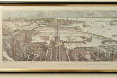 Limited Edition Print - Bird's Eye View of Portsmouth Harbour, c.1885