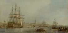 Load image into Gallery viewer, Watercolour of Portsmouth Harbour from Gosport by Edward Duncan