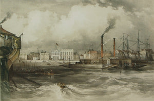 The Floating Bridge off Gosport, c.1840