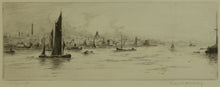 Load image into Gallery viewer, Signed 1920s Etching of Portsmouth Harbour