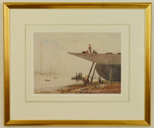 Load image into Gallery viewer, Watercolour of Portsmouth Harbour by George Henry Downing