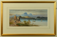 Watercolour of Lake Maggiore by George Lennard Lewis, 1895