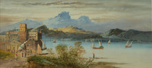 Load image into Gallery viewer, Watercolour of Lake Maggiore by George Lennard Lewis, 1895