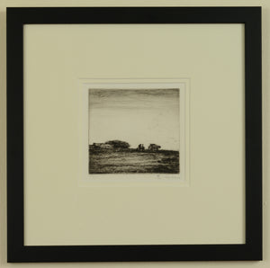 Signed etching titled The Crofters by Greta Delleaney