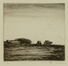 Load image into Gallery viewer, Signed etching titled The Crofters by Greta Delleaney