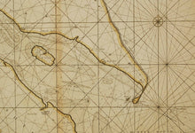 Load image into Gallery viewer, Antique Sea Chart of Hull and Grimsby by Greenvile Collins, 18th Century