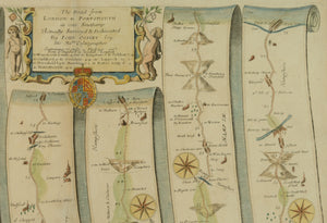 Antique Map of the Road from London to Portsmouth by John Ogilby