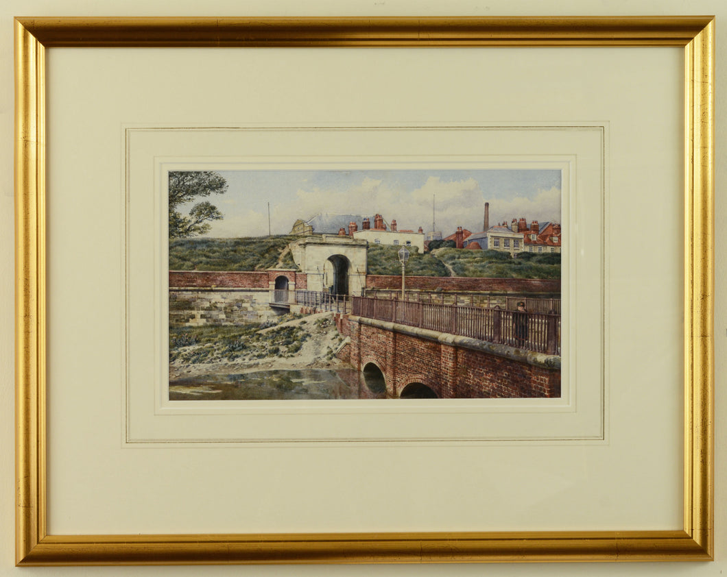 Watercolour of King William Gate, Portsmouth