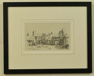 Lithograph of The Old White Hart, Bishops Waltham, by Martin Snape