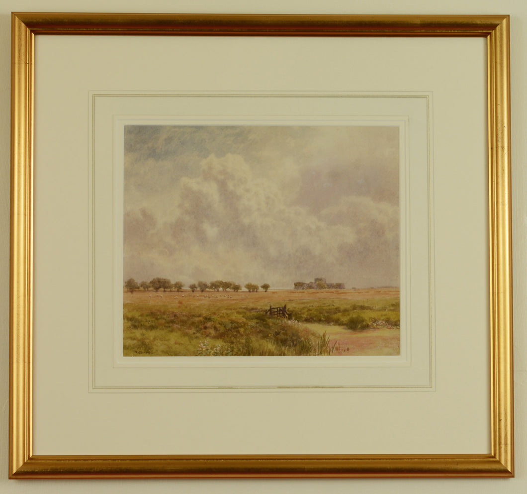 Watercolour of Camber Castle, Rye by Martin Snape