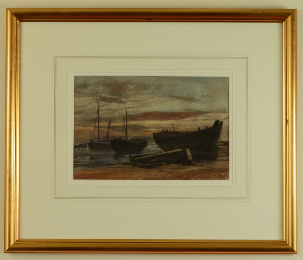 Watercolour of Coldharbour, Gosport by Martin Snape