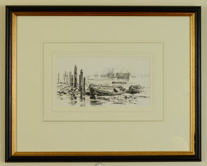 Lithograph of Coldharbour, Gosport by Martin Snape