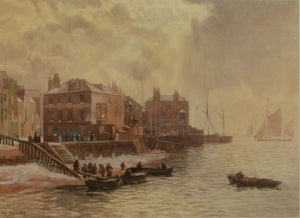 Watercolour of Point, Old Portsmouth by Martin Snape