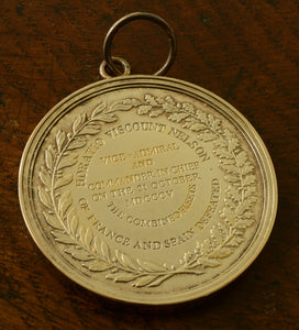 Large Naval Gold Medal issued by The Nelson Society on the Trafalgar Bicentenary